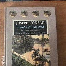 Libros de segunda mano: CUENTOS DE INQUIETUD. JOSEPH CONRAD. VALDEMAR EDICIONES, 2002. COLECCIÓN AVATARES. 1A. ED.. Lote 136378886