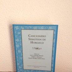 Livros em segunda mão: CANCIONERO - SEBASTIÁN DE HOROZCO - CONSEJERÍA DE EDUCACIÓN, CIENCIA Y CULTURA. Lote 204687628