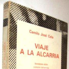 Libros de segunda mano: VIAJE A LA ALCARRIA - CAMILO JOSE CELA *. Lote 137648302