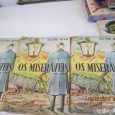 Libros de segunda mano: OS MISERÁVEIS VICTOR HUGO TRES TOMOS EN BRASILEÑO-PORTUGUES -1959. Lote 137935338