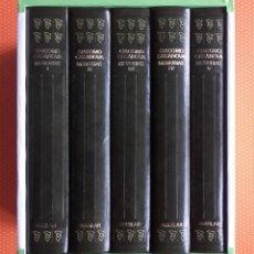 Libros de segunda mano: MEMORIAS. CASANOVA. AGUILAR. 5 TOMOS CON CAJA-ESTUCHE.. Lote 138216218