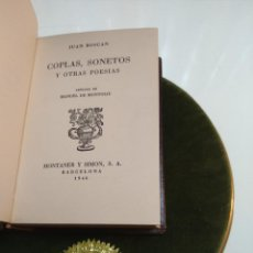 Libros de segunda mano: COPLAS, SONETOS Y OTRAS POESÍAS, JUAN BOSCAN - MONTANER Y SIMON - BARCELONA - 1946 - DIECISEISAVO -. Lote 138598702