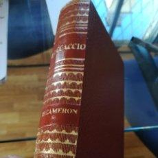 Libros de segunda mano: DECAMERON--BOCCACCIO-OBRAS ESTELARES-EDITORIAL MAUCCI. PIEL-PAPEL BIBLIA-1964. Lote 138693266
