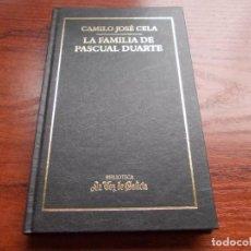 Libros de segunda mano: LA FAMILIA DE PASCUAL DUARTE, CAMILO JOSÉ CELA. Lote 195185771
