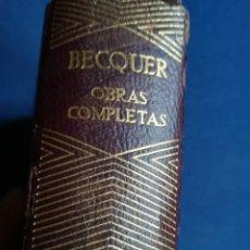 Libros de segunda mano: OBRAS COMPLETAS DE GUSTAVO ADOLFO BECQUER, AGUILAR. 1964. PAPEL BIBLIA. 1332 PÁGINAS. Lote 139216261