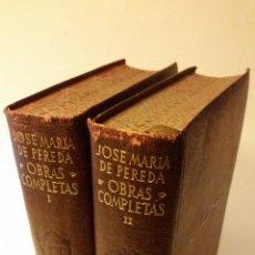 Libros de segunda mano: 1948 - JOSÉ MARÍA PEREDA - OBRAS COMPLETAS -2 TOMOS, AGUILAR ETERNAS. Lote 139611378