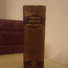 Libros de segunda mano: VIRGILIO Y HORACIO. OBRAS COMPLETAS. AGUILAR. PRIMERA EDICIÓN.. Lote 139878626