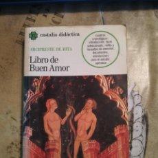 Libros de segunda mano: LIBRO DE BUEN AMOR - ARCIPRESTE DE HITA. Lote 140251162