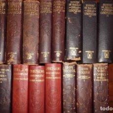 Libros de segunda mano: AGUILAR, PIEL,VETERANOS. GALDOS,BLASCO,ETC. 15 TOMOS,ENTEROS, VER IMAGENES.. Lote 140277010