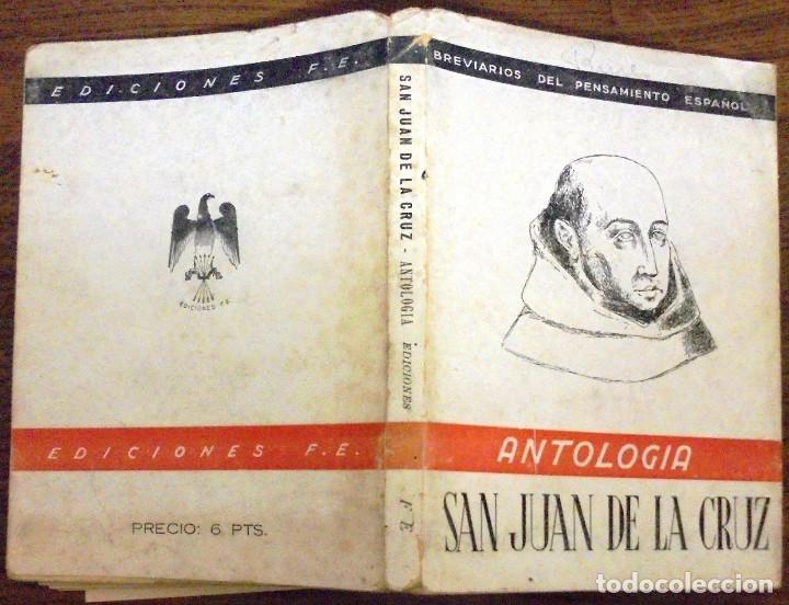 ANTOLOGIA SAN JUAN DE LA CRUZ BREVARIOS DEL PENSAMIENTO ESPAÑOL. EDICIONES FE MCMXLII (1942) (Libros de Segunda Mano (posteriores a 1936) - Literatura - Narrativa - Clásicos)