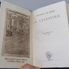 Livros em segunda mão: LA CELESTINA- FERNANDO DE ROJAS-AGUILAR, COLECCION CRISOL Nº 72, 1944. Lote 140723006
