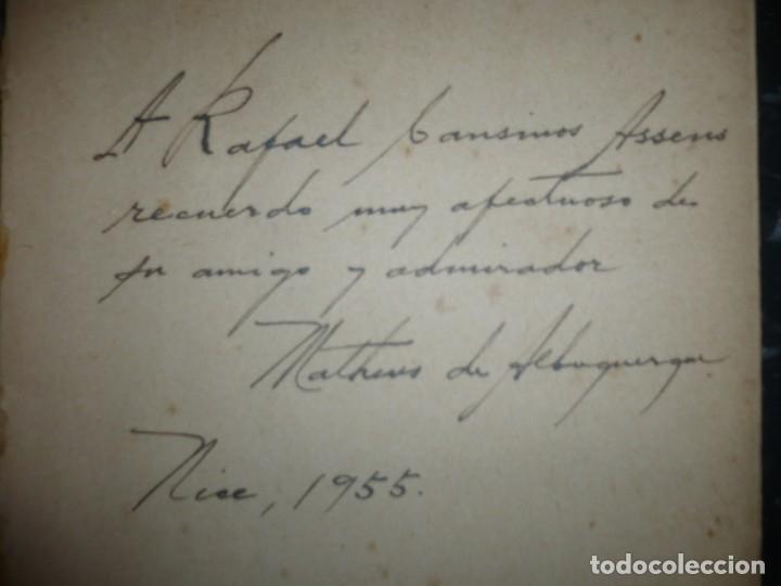 Libros de segunda mano: METAMORFOSES MATHEUS DE ALBUQUERQUE 1954 RIO DE JANEIRO DEDICADO A R.CANSINOS ASSENS - Foto 2 - 141598750