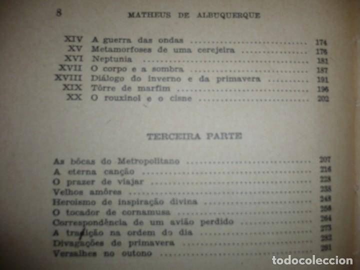 Libros de segunda mano: METAMORFOSES MATHEUS DE ALBUQUERQUE 1954 RIO DE JANEIRO DEDICADO A R.CANSINOS ASSENS - Foto 7 - 141598750