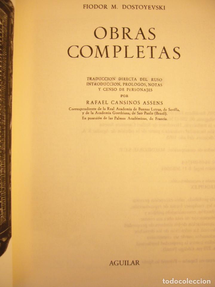 Libros de segunda mano: DOSTOYEVSKI: OBRAS COMPLETAS, I (AGUILAR, 2004) EXCELENTE ESTADO - Foto 3 - 141701310