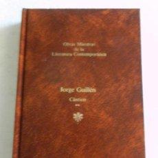 Libros de segunda mano: CÁNTICO-JORGE GUILLÉN-OBRAS MAESTRAS DE LA LITERATURA CONTEMPORÁNEA-SEIX BARRAL Nº 87. Lote 141833538
