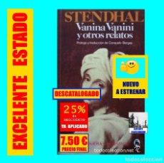 Libros de segunda mano - STENDHAL - VANINA VANINI Y OTROS RELATOS - PRÓLOGO Y TRADUCCIÓN DE CONSUELO BORGES - BRUGUERA - 142048998