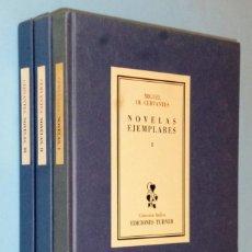 Libros de segunda mano: NOVELAS EJEMPLARES DE MIGUEL DE CERVANTES .3 TOMOS (OBRA COMPLETA). Lote 142288518