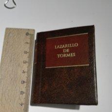 Libros de segunda mano: EL LAZARILLO DE TORMES. MINIATURA. PLANETA AGOSTINI.330 PAGINAS. Lote 142331490