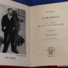 Libros de segunda mano: AVIRANETA - PÍO BAROJA - CRISOL Nº 288 - AGUILAR (1962). Lote 142998190