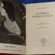 Libros de segunda mano: CUMBRES BORRASCOSAS - EMILY BRONTE - CRISOL Nº 199 - AGUILAR (1964). Lote 142999530