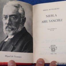 Libros de segunda mano: NIEBLA - ABEL SÁNCHEZ - MIGUEL DE UNAMUNO - CRISOL Nº 151 - AGUILAR (1963). Lote 142999834