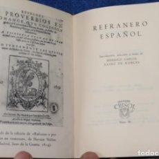 Libros de segunda mano: REFRANERO ESPAÑOL - FEDERICO CARLOS SAINZ DE ROBLES - CRISOL Nº 80 - AGUILAR (1962). Lote 143000158