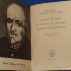 Libros de segunda mano: LA VIDA ES SUEÑO - CALDERÓN DE LA BARCA - CRISOL Nº 36 BIS - AGUILAR (1964). Lote 143003690
