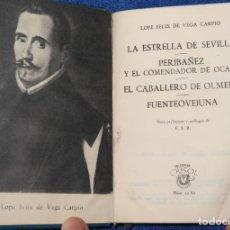 Libros de segunda mano: CUATRO OBRAS TEATRALES - LOPE DE VEGA - CRISOL Nº 32 BIS - AGUILAR (1959). Lote 143004002