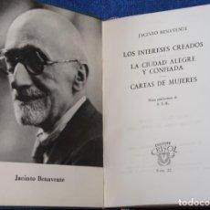 Libros de segunda mano: COMEDIAS Y CARTAS DE MUJERES - JACINTO BENAVENTE - CRISOL Nº 22 - AGUILAR (1964). Lote 143004166