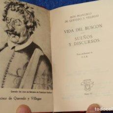 Libros de segunda mano: VIDA DEL BUSCÓN - SUEÑOS Y DISCURSOS - QUEVEDO - CRISOL Nº 15 - AGUILAR (1964). Lote 143004442