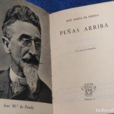 Libros de segunda mano: PEÑAS ARRIBA - JOSE MARÍA DE PEREDA - CRISOL Nº 04 - AGUILAR (1967). Lote 143004558