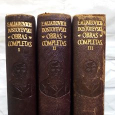 Libros de segunda mano: OBRAS COMPLETAS (TRES TOMOS). FIODOR M. DOSTOYEVSKI.. Lote 143641390