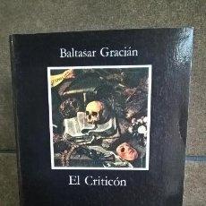 Libros de segunda mano: EL CRITICON, BALTASAR GRACIAN.CATEDRA. Lote 143729114