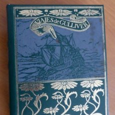 Libros de segunda mano: JONATHAN SWIFT: LOS VIAJES DE GULLIVER. GRANDES OBRAS LITERATURA UNIVERSAL. TAPA DURA. DORADOS. V. Lote 144503890