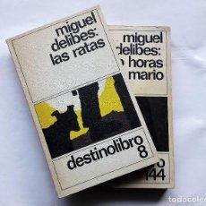 Libros de segunda mano: 2 LIBROS DE MIGUEL DELIBES: 1) CINCO HORAS CON MARIO - 2) LAS RATAS.. Lote 145216226