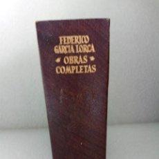 Libros de segunda mano: FEDERICO GARCIA LORCA OBRAS COMPLETAS AGUILAR 1968. Lote 146217382