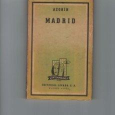Libros de segunda mano: MADRID. AZORÍN. EDT. LOSADA, 1952.. Lote 146224870