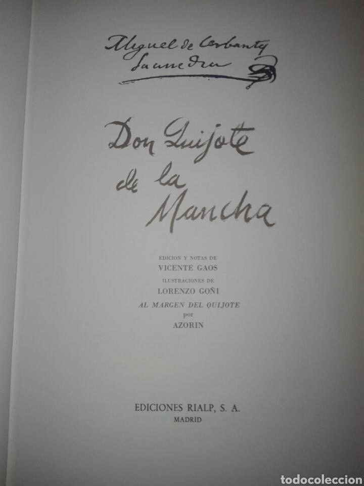 Libros de segunda mano: Don Quijote de la Mancha 4 tomos ediciones rialp 1980 - Foto 3 - 146700922