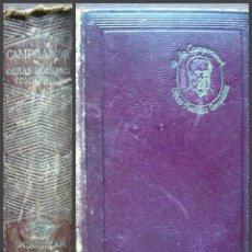 Libros de segunda mano: RAMON DE CAMPOAMOR. OBRAS POETICAS COMPLETAS. 4ª EDICION 1945 AGUILAR. Lote 146805590