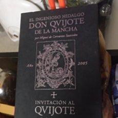 Libros de segunda mano: DON QUIJOTE DE LA MANCHA CERVANTES EDICION LUNWERG PRECINTADO. Lote 147231776