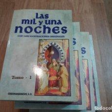 Libros de segunda mano: LOTE DE 4. TOMOS DEL 1 AL 4 DE LAS MIL Y UNA NOCHES. ILUSTRACIONES ORIGINALES. 1997. EDICOMUNICACIÓN. Lote 147325450