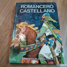 Libros de segunda mano: ROMANCERO CASTELLANO. NEBRIJA. 1980. PROCEDE DE BIBLIOTECA. BUEN ESTADO. CON ILUSTRACIONES A COLOR.. Lote 147327558