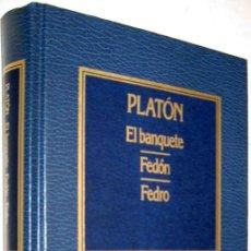 Libros de segunda mano: EL BANQUETE - FEDON - FEDRO - PLATON - ENE. Lote 147369974