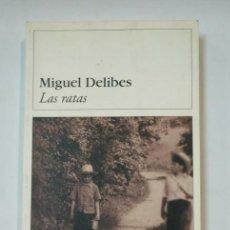 Libros de segunda mano: LAS RATAS. MIGUEL DELIBES. DESTINOLIBRO Nº 8. TDK360. Lote 147899270
