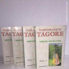 Libros de segunda mano: RABINDRANATH TAGORE , OBRAS SELECTAS - 4 TOMOS - EDICOMUNICACION S.A.. Lote 148182474