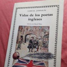 Libros de segunda mano: VIDAS DE LOS POETAS INGLESES, DE SAMUEL JOHNSON. CÁTEDRA, 1988. Lote 148695998
