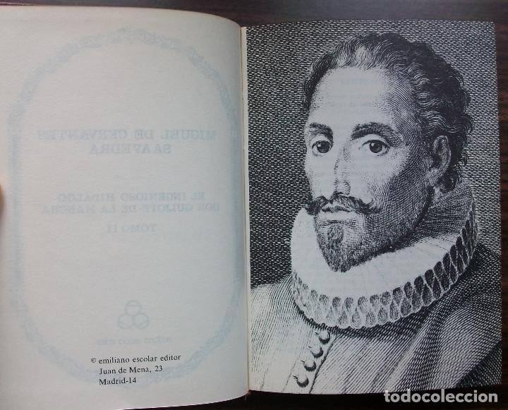 Libros de segunda mano: MIGUEL DE CERVANTES SAAVEDRA. EL INGENIOSO HIDALGO DON QUIJOTE DE LA MANCHA. TOMO II - Foto 3 - 148973470