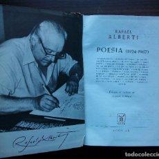 Libros de segunda mano: RAFAEL ALBERTI. POESIA (1924-1967). ED. ALGUILAR. Lote 149204550