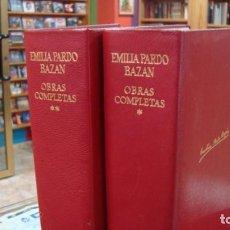 Libros de segunda mano: AGUILAR: PARDO BAZÁN, EMILIA, OBRAS COMPLETAS 2 TOMOS 1973. Lote 149210938