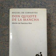 Libros de segunda mano: DON QUIJOTE DE LA MANCHA. EDICIÓN DE FRANCISCO RICO. ALFAGUARA, 2007. Lote 149372338